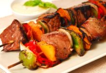 Σουβλάκι με αρνί και λαχανικά - Shish Kebab