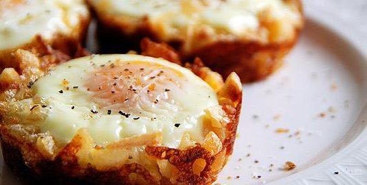 Αυγά φούρνου σε σφολιάτα