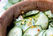 Σαλάτα με αγγούρι, δροσερή και νόστιμη