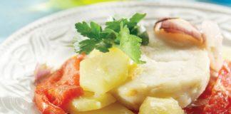 Ροφός με πατάτες φούρνου